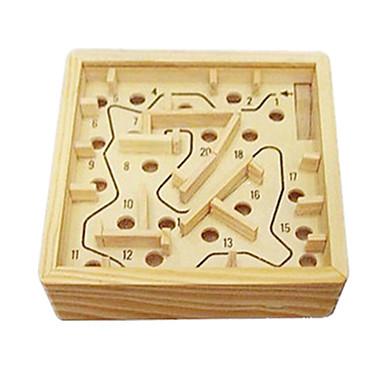 ブロックおもちゃ ボール 迷路&シーケンスパズル 迷路 木製の迷路 ストレス解消グッズ おもちゃ アイデアジュェリー 方形 ウッド 1 小品 男の子 女の子 ギフト