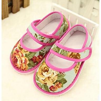 Lapset Tyttöjen Vauvat Kengät Puuvilla Comfort Tasapohjakengät Käyttötarkoitus Kausaliteetti Pinkki