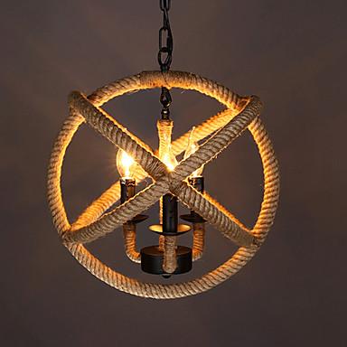 3-luz Luzes Pingente Luz Ambiente - LED, Designers, 110-120V / 220-240V, Branco Quente, Lâmpada Não Incluída / 0-5㎡