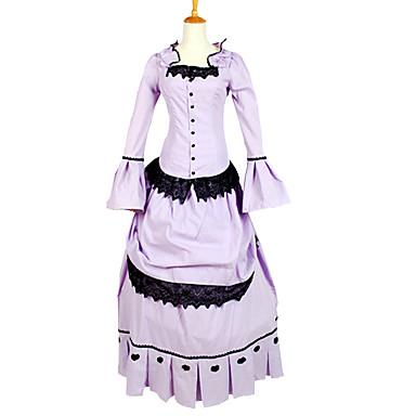 Retro Viktorianisch Gothic Mittelalterlich Kostüm Damen Party Kostüme Maskerade Vintage Cosplay Charmeuse Langarm