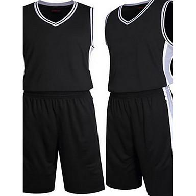 バスケットボール ランニング-トレーナー トップス(ホワイト ブラック) -男性用-高通気性 モイスチャーコントロール 快適