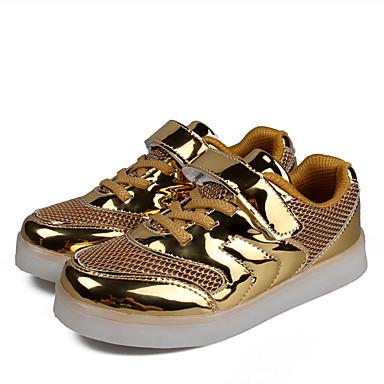 Mädchen-Sneaker-Outddor-PU-Flacher Absatz-Komfort-Rot Silber Gold