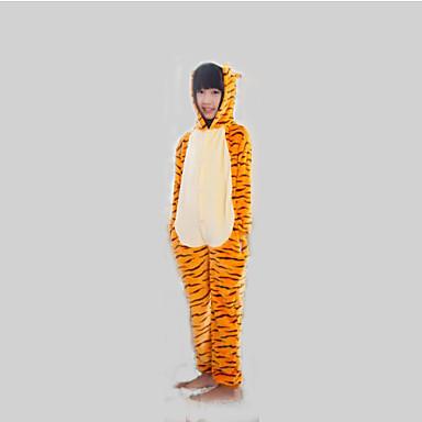 Pyžama Kigurumi Tiger Pyžamo Onesie Kostým Flanel Fleece Oranžová Cosplay Pro Dítě Animal Sleepwear Karikatura Halloween Festival / Svátek