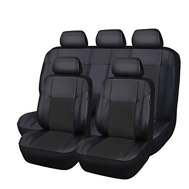 cheap Car Seat Covers-CARPASS Car Seat Covers Seat Covers Black PU Leather Common For universal