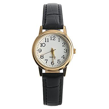 Mujer damas Reloj de Pulsera Cuarzo Reloj Casual / PU Banda Analógico Casual Moda Negro - Negro Un año Vida de la Batería / Tianqiu 377
