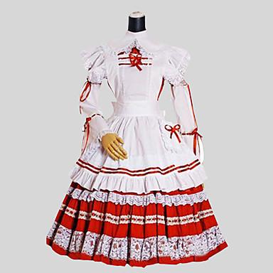 Niedlich Rokoko Damen Einteilig Kleid Cosplay Langarm