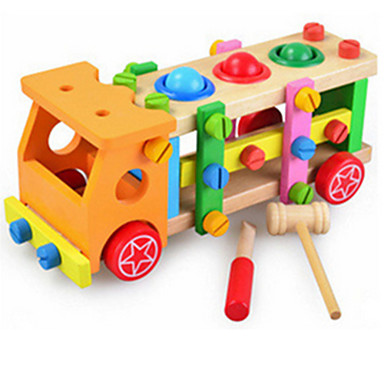 知育玩具 ウッド 虹色 音楽玩具