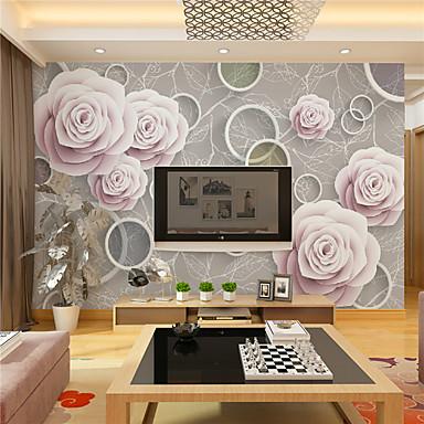 Art Deco / 3D Taustakuva Kotiin retro Seinäpinnat , Kanvaasi materiaali liima tarvitaan Seinämaalaus , huoneen Tapetit