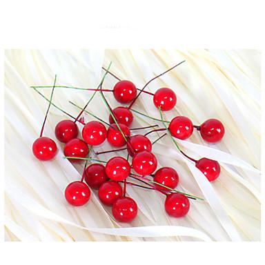 小さなシミュレーションザクロフルーツベリー造花赤いクリスマスチェリー雄しべ結婚式のパーティー祭の装飾2センチメートル20枚