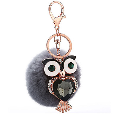 Key Chain おもちゃ Key Chain 球体 鳥 メタル プラッシュ 1 小品 女の子 クリスマス 誕生日 バレンタイン・デー ギフト