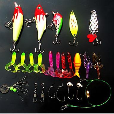 16 pcs pçs Isco Duro / Iscos Rotativos / Vairão Isco Duro / Colheres / Vairão Plástico Duro 3D Pesca de Mar / Pesca de Água Doce