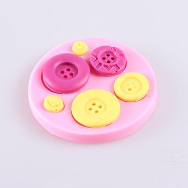 Przycisk ciasto czekoladowe fondant formy silikonowe, narzędzia dekoracji bakeware