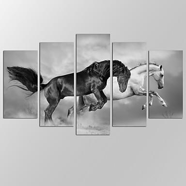 抽象的な風景画 近代の,5枚 キャンバス 横式 プリント 壁の装飾 For ホームデコレーション