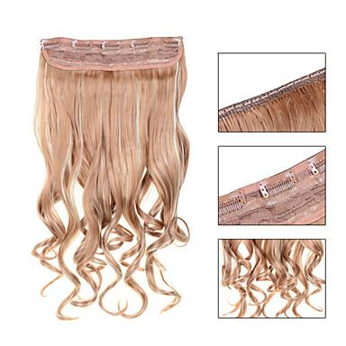 5 Teledyski faliste blond truskawkowy (# 27) spinki do włosów syntetycznych w przedłużanie włosów dla pań więcej kolorów dostępnych