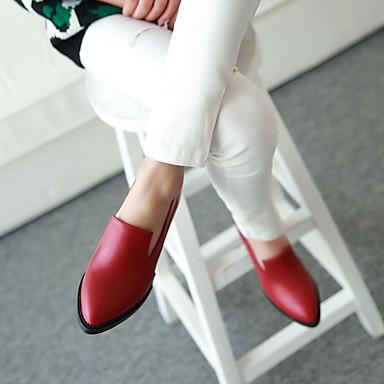 pointu Printemps Chaussures Marche Confort Talons Noir Talon Bottier Bleu 05469009 Bout Rouge Polyuréthane Femme Chaussures Automne à q7BxxAp
