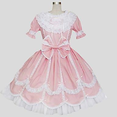 甘ロリータ プリンセス レース 女性用 ワンピース ドレス コスプレ 半袖