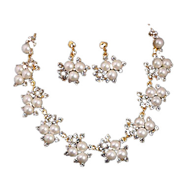 Damen Perle Alltag Perle 1 Halskette 1 Paar Ohrringe