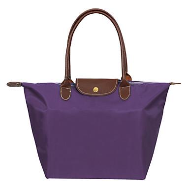 abordables Sacs-Femme Nylon Cabas Couleur Pleine Noir / Azur / Violet