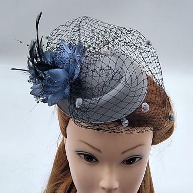 チュール羽毛ネット魅惑帽子鳥かご型ベールヘッドピースエレガントなスタイル