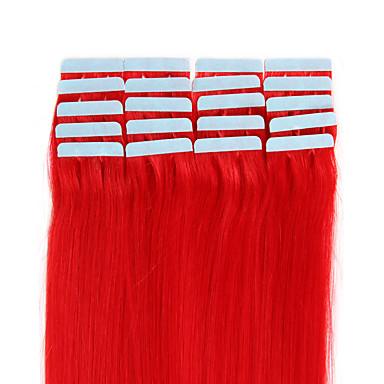 20szt 1.5-2g / szt 16-24inch brazylijski taśma taśma ludzkie przedłużanie włosów # 1b w ludzkich włosów rozszerzeniach 005