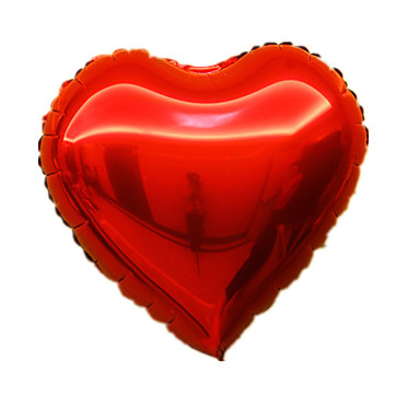 voordelige Ballonnen-Ballonnen Hartvormig Aluminium 5 tot 7 jaar