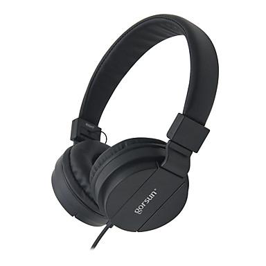 Gorsun GS-778 耳に ヘアバンド ケーブル ヘッドホン 動的 プラスチック 携帯電話 イヤホン ボリュームコントロール付き ノイズアイソレーション マイク付き ヘッドセット