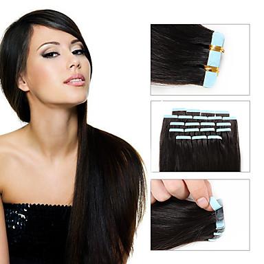 20kpl 1.5-2g / kpl 16-24inch Brasilian nauha hiuksista laajentaminen # 2 nauha ihmisen hiusten pidennykset 002