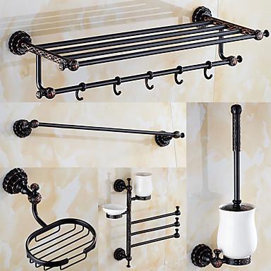 Kylpyhuonetarvikesetti / Öljyhiottu pronssi Antiikki