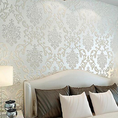 Art Deco Home Decoration Classical Wall Covering, Non-woven Paper Material Adhesive required Wallpaper, Room Wallcovering