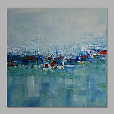 Hang-Painted öljymaalaus Maalattu - Abstrakti Moderni Välimeren Kangas
