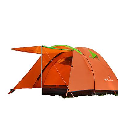 FLYTOP 3-4 henkilöä Teltta Kaksinkertainen teltta Yksi huone Perheteltat Pidä lämpimänä Kosteuden kestävä Sateen kestävä Ylisuuret