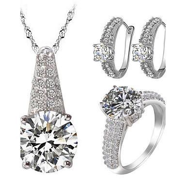 Naisten Korusetti Strassi jäljitelmä Diamond Love ylellisyyttä koruja pukukorut Zirkoni Cubic Zirkonia Tekojalokivi Metalliseos 1