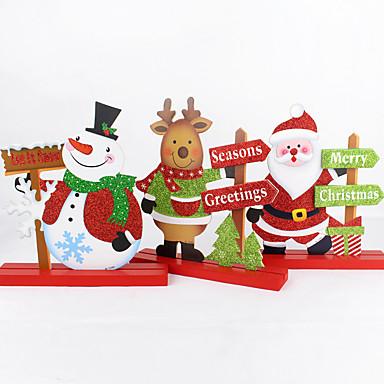 環境に優しい素材 結婚式の装飾-単品/セット クリスマス 素朴なテーマ 冬