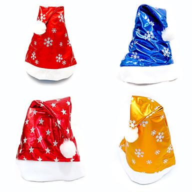 クリスマスギフト クリスマスパーティー用品 ホリデー用品 4Pcs クリスマス クロス 虹色