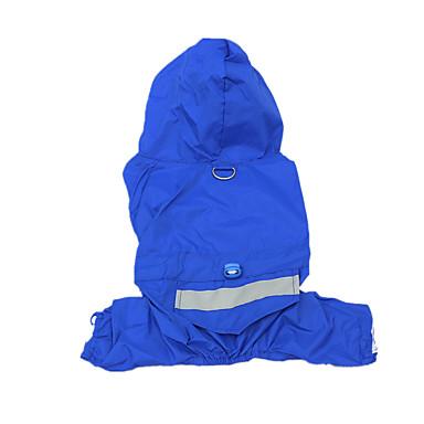 犬 レインコート 犬用ウェア カジュアル/普段着 防水 純色 イエロー レッド ブルー 迷彩色 コスチューム ペット用