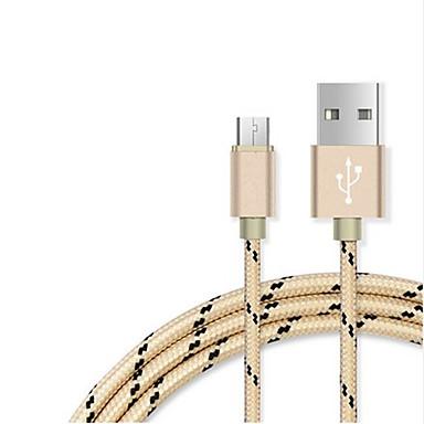 USB 2.0 USBケーブルアダプタ 編み ケーブル 用途 Samsung Huawei Lenovo Xiaomi HTC 100 cm ナイロン