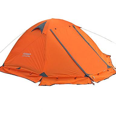 billige Telt og ly-FLYTOP 2 personer Telt Utendørs Bærbar Regn-sikker Hold Varm Dobbelt Lagdelt camping Tent >3000 mm til Vandring Camping Reise PVC Oxford