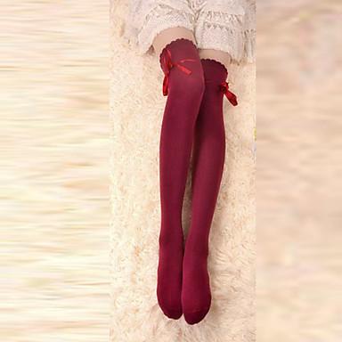 Șosete/ciorapi Clasic/Traditional Lolita Cu Dantelă Roșu Lolita Accesorii Șosete Nod Papion Pentru Bumbac