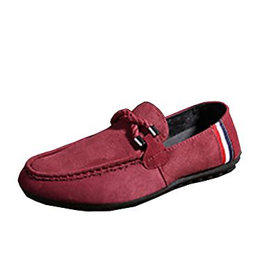 Herre sko Fleece Vår Høst Slouch Støvler Komfort En pedal Gange Svart Rød Blå