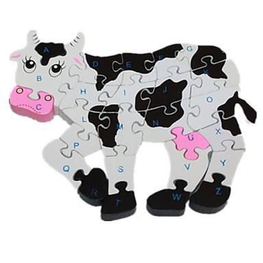 voordelige 3D-puzzels-Legpuzzel / Houten puzzels Cow Schattig / Noviteit Hout Jongens / Meisjes Geschenk
