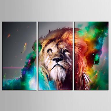 抽象画 動物 クラシック 近代の,3枚 キャンバス 縦式 プリント 壁の装飾 For ホームデコレーション