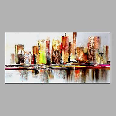 手描きの 抽象画 横式, 近代の キャンバス ハング塗装油絵 ホームデコレーション 1枚