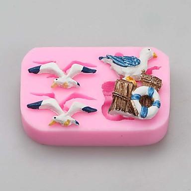Molde Animal para Candy Chocolate Bolo Other Silicone Amiga-do-Ambiente Dia de Ação de Graças Ano Novo Aniversário Férias Anti-Aderente