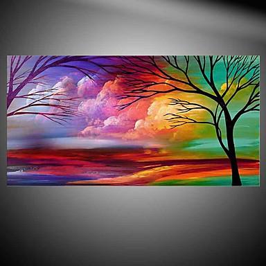 Pintura al óleo pintada a colgar Pintada a mano - Floral / Botánico Modern Sin marco interior / Lienzo enrollado