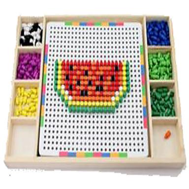 Mosaik-Kit Zum Stress-Abbau Bildungsspielsachen Spielzeuge Neuartige Quadratisch Zylinderförmig Holz 1 Stücke Jungen Mädchen Kindertag