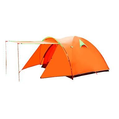 FLYTOP 3-4 henkilöä Teltta Kaksinkertainen teltta Yksi huone Taitettava teltta Pidä lämpimänä Kosteuden kestävä Hyvin ilmastoitu