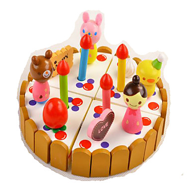 Tue so als ob du spielst Spielzeuge Quadratisch Kuchen Ausstechform für Kuchen & Plätzchen Neuartige Simulation Holz Kunststoff Jungen