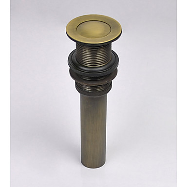 Faucet accessory - Superior Quality - Vintage Brass Pop-up Water Drain Without Overflow - Finish - Antique Brass