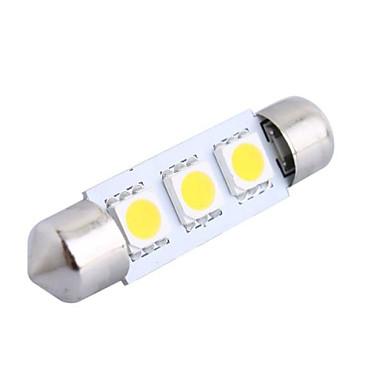 39mm 0.6W 50LM 3000K 3x5050 SMD Warm White LED for Car Reading/License Plate/Door Lamp (DC12V, 1Pcs)