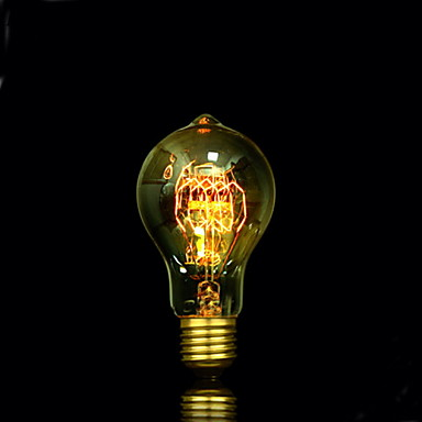 1pç 25W E27 E26/E27 E26 A60(A19) Branco Quente 2300 K Incandescente Vintage Edison Light Bulb 220V 85-265V